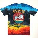 【ロックTシャツバンドTシャツ】LedZeppelinレッド・ツェッペリンUSツアー1977インディゴタイダイ染ツェッペリンタイダイTシャツ