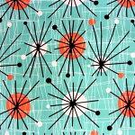 MichaelMiller/マイケルミラーアトミック柄50'sファブリック生地ミッドセンチュリーコットン100%シーチング【smtb_s】【楽ギフ_包装】