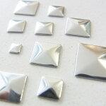 ホットフックススタッズhotfixピラミッド型STUDS3ミリ〜10ミリ(20−30個入り)ラインストーンアイロンホットフックス