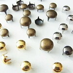 スタッズメタルドーム型ラウンド型丸形4爪タイプ6mm8mm鋲ゴールドシルバーブラックアンティーク古美(50個入り〜)簡単DIY手芸クラフトハンドメイドスタッズリメイクゴ-ルドシルバー