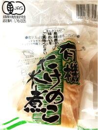 JAS認定有機たけのこ水煮1本入(約180g〜220g)×5袋【有機栽培認定番号:09B−005筍竹の子】