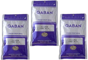 GABAN フェンネル ホール (袋) 100g×3袋   【スパイス ハウス食品 香辛料 粒 シード 業務用 Fennel ういきょう】