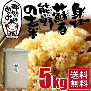玄米◆5kg◆世界遺産の地、熊野のコシヒカリ28年度産『那智のめぐみ』【送料無料】
