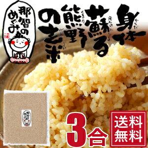 玄米◆3合◆世界遺産の地、熊野のコシヒカリ28年度産『那智のめぐみ』【送料無料】