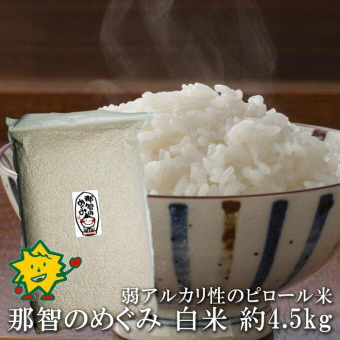 白米 那智のめぐみ 約4.5kg 和歌山県産 ピロール米 残留農薬ゼロ 残留農薬未検...