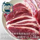 和歌山産 ジビエ 鹿肉セット 1.5kg(5種類各300g) シカ肉 紀州 那智勝浦 色川 だものみち ロース(ステーキ/スライス) モモ肉(ステーキ/スライス) ミンチ 国産 紀州産 ステーキ 焼き肉 焼肉 しゃぶしゃぶ もみじ鍋 お取り寄せ クール冷凍便