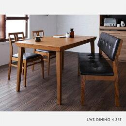 【商品名】LWSダイニング4点セット【サイズ】テーブル幅135奥行80高さ72cm【カラー】天然木ホワイトアッシュ突板無垢材ダイニングテーブルダイニングチェア食卓木製ヴィンテージスタイル北欧カフェダイニング140130椅子チェア食卓椅子