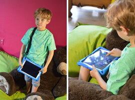 iPadiPad2iPad3iPad4AirAir2Pro9.7minimini2mini3mini4ケースCooperCases(ブランド)Trooper2Kショルダーストラップ衝撃かわいいタブレットケース車載後部座席スタンドこどもかわいいおしゃれキッズシリコンカバー
