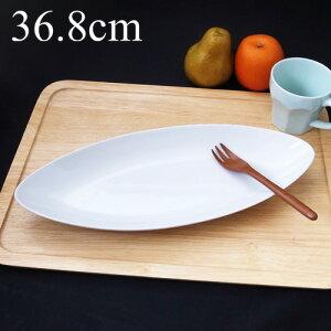 BIG 36cmリーフベーカー (アウトレット)日本製 磁器 大皿 30cm以上 特大 パスタ皿 パーティー ビュッフェ 盛り皿 業務用食器 食器 白 おしゃれ