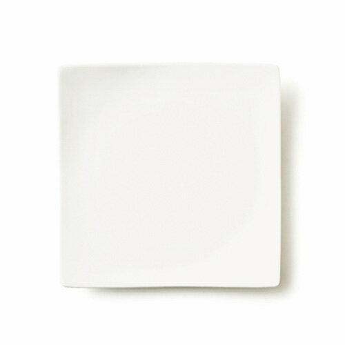 ALPHA アルファ 22cm 正角皿(アウトレット含む)日本製 皿 おしゃれ お皿 おしゃれ 食器 おしゃれ 食器 白 食器 アウトレット 日本製 磁器 白い食器 スクエアプレート 中皿 食器 白 おしゃれ 四角