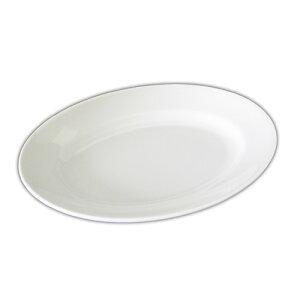 EXCEL エクセル 31cm プラター(アウトレット)白い食器 大皿 30cm以上 特大 食器 カフェ食器 楕円皿 プレート 白 業務用食器