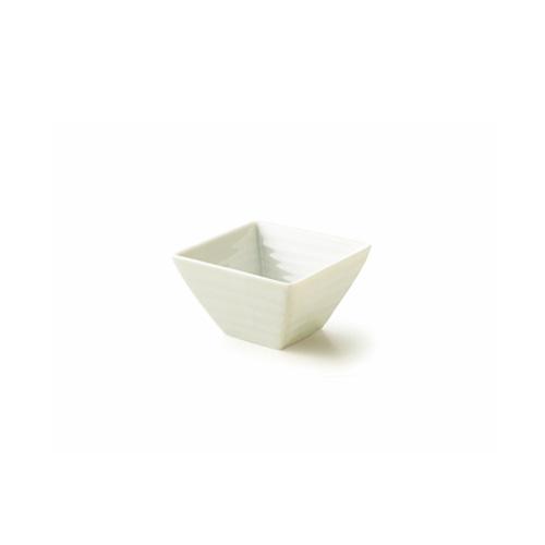 【B級品 スーパーアウトレット】NN 8cm スクエアボール 日本製 食器 磁器 白い食器 角鉢 小鉢 プチシリーズ 業務用食器 おしゃれ 白