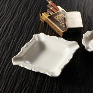 スクエア アッシュトレイ(アウトレット含む)【日本製 磁器】【灰皿 陶器 白 磁器製 業務用 …