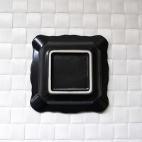 灰皿磁器製●黒マットスクエアアッシュトレイ(アウトレット含む)●【日本製磁器】【灰皿業務用】【RCP】05P03Dec16
