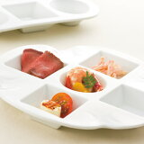 RSラウンドスクエア 5プレート(S) (アウトレット含む)日本製 皿 おしゃれ お皿 おしゃれ 食器 おしゃれ 食器 白 食器 アウトレット 日本製 磁器 白い食器 5つ仕切り皿 パーティープレート 五品皿 食器 業務用 白