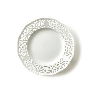 職人泣かせの透かし皿☆スイーツと一緒に♪デザート皿、スイーツ皿にもぴったりな白い食器の透...