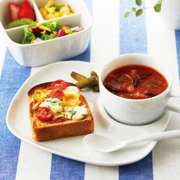 朝のスナックトレー アウトレット含む 食器 白 日本製 磁器 白い食器 ランチプレート 朝食 2つ仕切り 陶器 業務用食器 お皿 おしゃれ