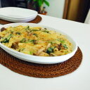 3〜5名様分のオーバルグラタン皿です。グラタンやラザニアはもちろん、大皿としてあらゆる場面...