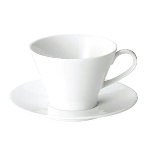 プレノ コーヒーカップ & ソーサーセット 【白い食器 レストラン カフェ 食器 業務用食器 日本製】