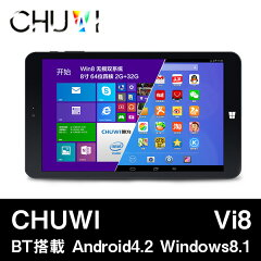 【CHUWI Vi8 デュアルブートモデル クアッドコア(1.8GHz) IPS液晶 BT搭載】【8インチ 8型】CHUW...