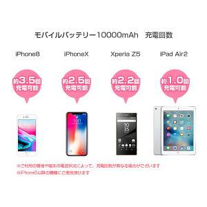 モバイルバッテリーiOS/Android対応ケーブル内蔵10800mAh大容量軽量薄型急速充電ALPHALINGw-05【iphone8iPhone7plusiphone6アイコスiqos】