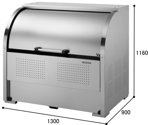 ダイケン クリーンストッカー ステンレス製 CKS-1309型 ゴミ収集庫 ゴミ箱 屋外:タックオンライン