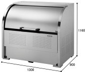 【送料無料】ダイケン クリーンストッカー ステンレス製 CKS-1309型 ゴミ収集庫 ゴミ箱 屋外
