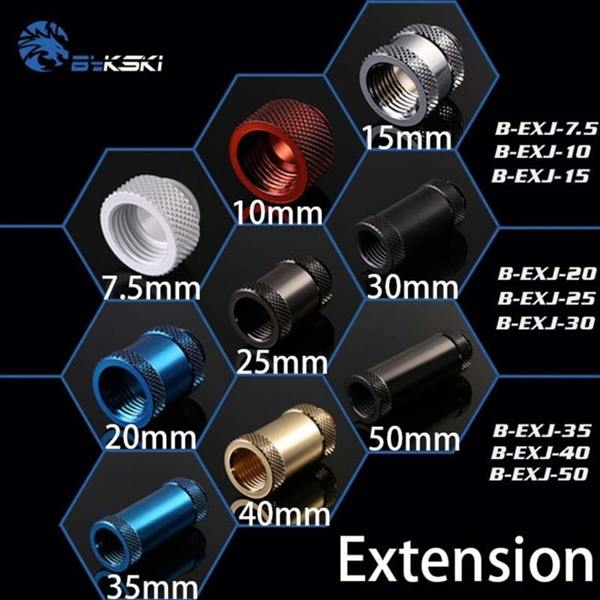 Bykski water cooler all Extension Female thread screw seat G1/4 Boutique multiple colour画像