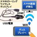 スマホミラーリングワイヤレスWi-FiでディスプレイHDMIへ ...