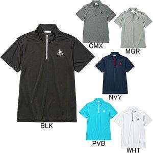 【ルコック】le coq sportif ハーフジップ半袖シャツ QMMLJA70ZZ ランニング・フィットネス・ゴルフ ポロシャツ メンズ