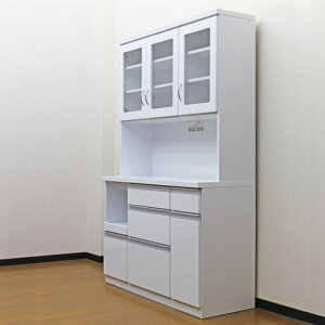 食器棚国産キッチン収納完成品アウトレット幅105cmオープンダイニングボード