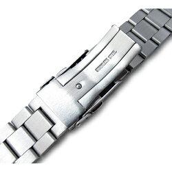 20mmTAIKONAUTメタル時計バンドステンレススチールヘクサッドオイスターブレスレットブラッシュドシルバー