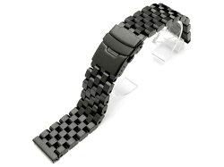 21mmTAIKONAUTメタル時計ベルトステンレススチールスーパーエンジニアタイプ2ブレスレットPVDブラック