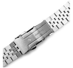 22mmTAIKONAUTメタル時計バンドステンレススチールジュビリーブレスレットforSEIKODIVERandmore