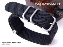◆送料無料◆22mm TAIKONAUT時計ベルト ZULUスタイル 22024B