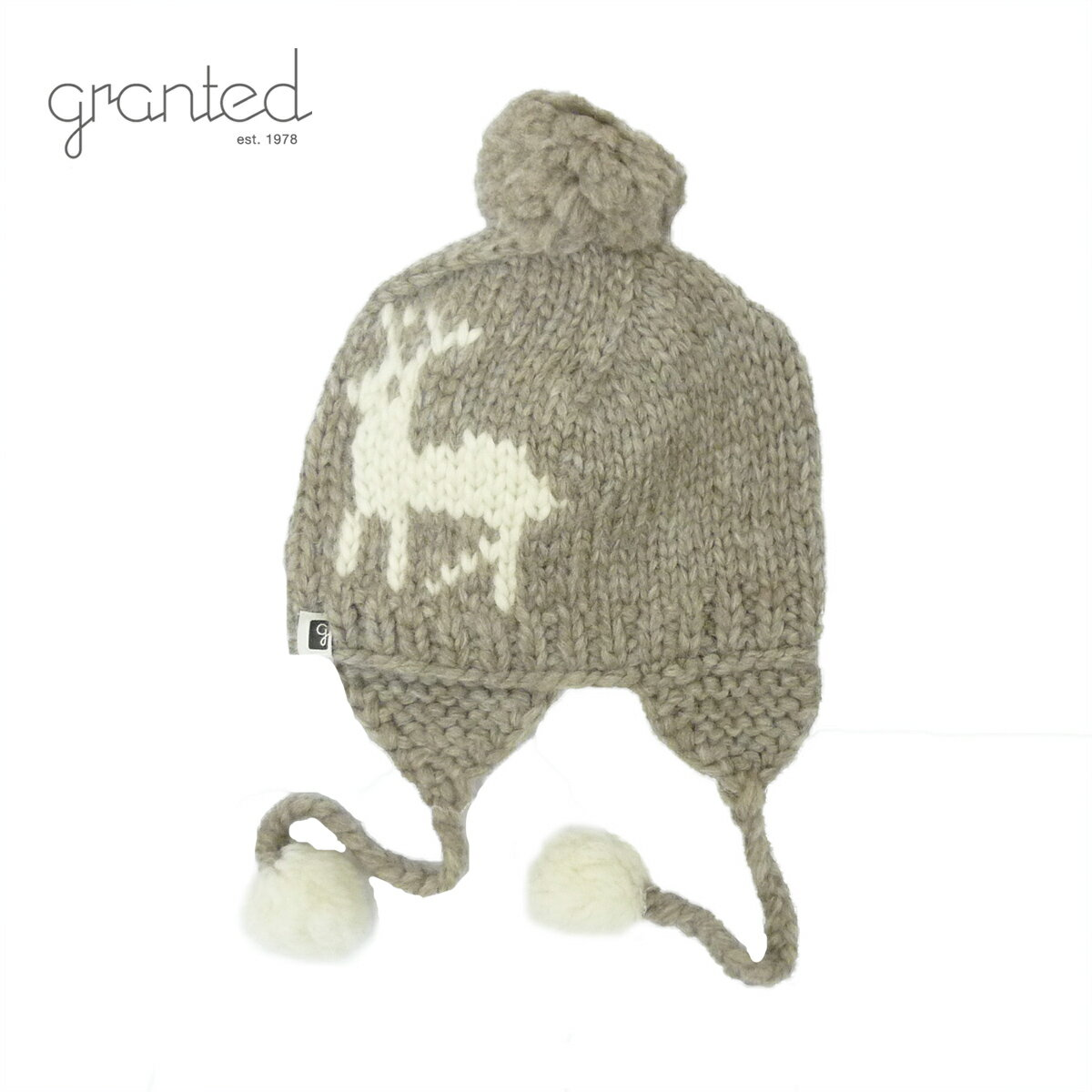 GRANTED グランテッド KNIT CAP DEER TOQUE HAT