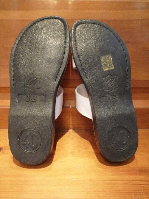 JERUSALEM SANDALS レザーサンダル メンズ ホワイト 25-26cm[エルサレム レザー サンダル 靴 ハンドメイド ブランド アメカジ]