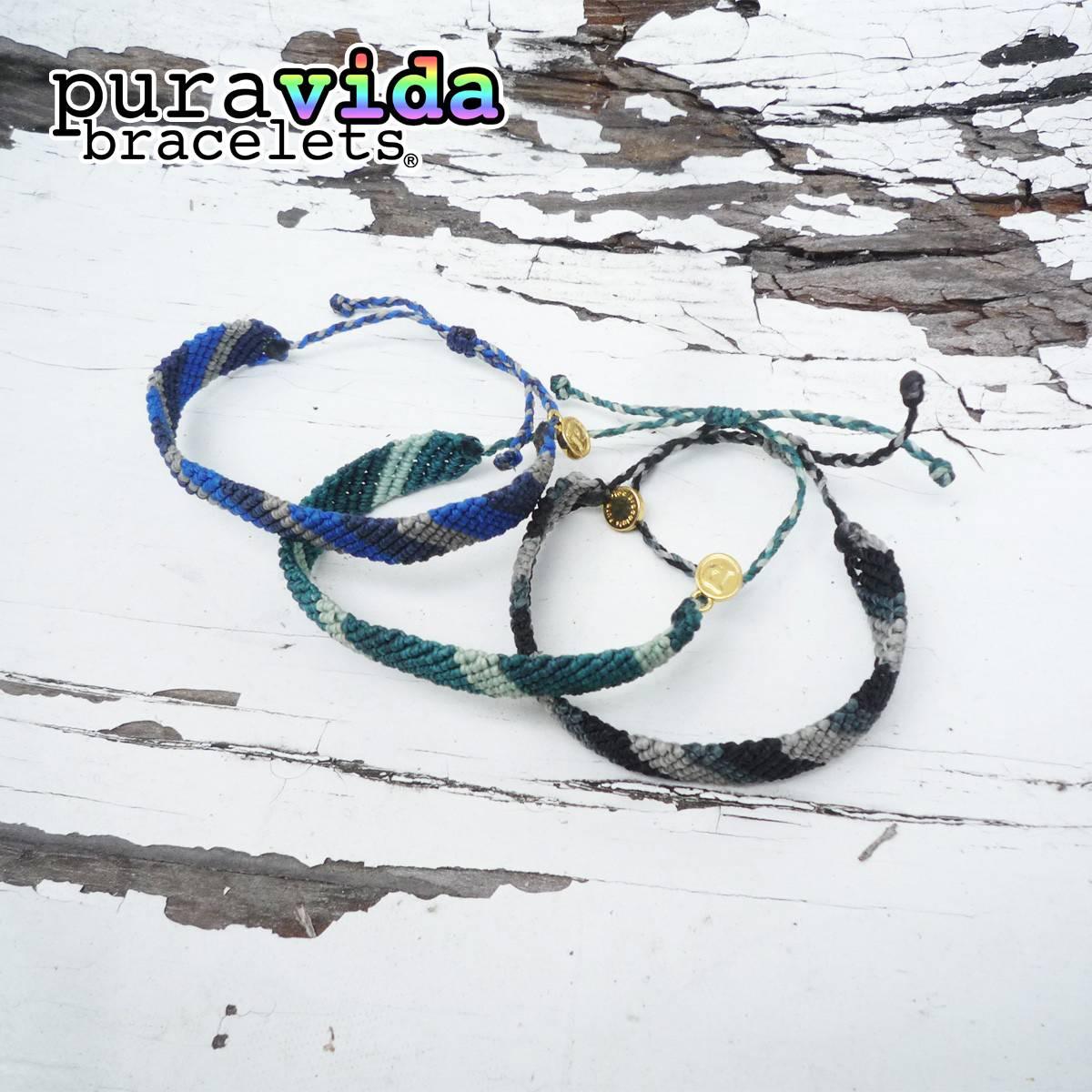 puravida bracelets プラヴィダ ブレスレット フラットブレイデッド バンドカラー