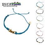 puravida bracelets プラヴィダ ブレスレット GOLD WORD LOVE レディース/メンズ ターコイズ/グレー/ミント/ホワイト/ピンク/ブラック FREE[アクセサリー おしゃれ 可愛い メッセージ 金 ゴールド 海外 アンクレット 重ね付け 紐 寄付 ブランド サーフ]