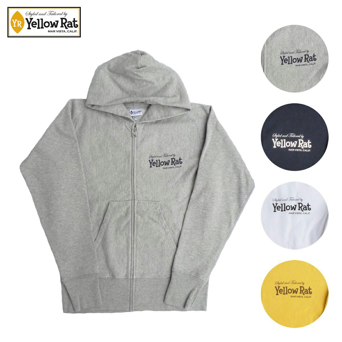 Yellow Rat イエローラット ZIP HOODIE CLASSIC BOX