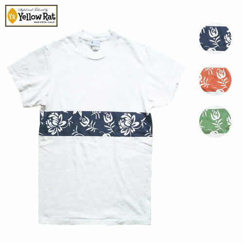 YellowRatイエローラットTシャツHAWAIIANBANDメンズ/レディースホワイトXネイビー/ホワイトXオレンジ/ホワイトXグリーンS-M
