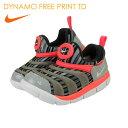 ナイキ (nike) 子供靴 ダイナモフリープリント DYNAMO FREE PRINT TD 834366 キッズ・ジュニア用 男の子 女の子モデル