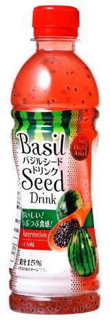 【訳あり】 バジルシードドリンク すいか味 350ml One Dish Asia 賞味期限:21.02.11