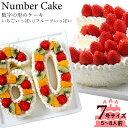 誕生日に大人気 記念の数字を形にしました。【ナンバーケーキ】7号サイズ フルーツ or いちご記念日 バースデーケーキ お誕生日ケーキ お祝い プレゼント アニバーサリー 還暦・・・