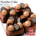 誕生日ケーキ アニバーサリーケーキ♪数字の形のケーキでお祝い☆ナンバーケーキ 8号 生チョコレートタ ...