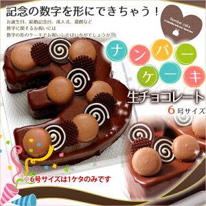 誕生日ケーキアニバーサリーケーキ☆記念の数字を形にできちゃう!『ナンバーケーキ』6号生チョコレートタイプ【バースデーケーキお誕生日記念日成人式還暦メモリアルお祝い大陸お取り寄せ通販】【RCP】