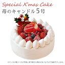 【特製 クリスマスケーキ 予約 2021】苺のキャンドル 5号 直径15cmご予