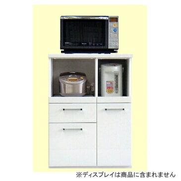 【食器棚】【キッチン収納】【レンジ台】【キッチン家電収納】スタイル B ホワイト