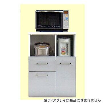 【食器棚】【キッチン収納】【レンジ台】【キッチン家電収納】スタイル B シルバー
