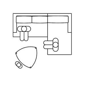 パニーニ3本脚リビングテーブル【天板】LT80ABR【野田産業/NDSTYLE】